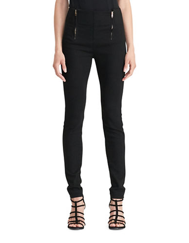 Lauren Ralph Lauren Stretch Cotton Skinny Pants-BLACK-16 88861708_BLACK_16