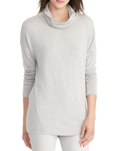 Lauren Ralph Lauren Cowl Neck Jersey Sweater-GREY-Large 88819329_GREY_Large