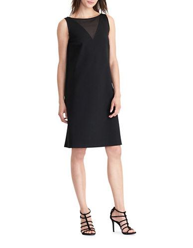 Lauren Ralph Lauren Georgette-Panel Ponte Dress-BLACK-Medium 88861751_BLACK_Medium