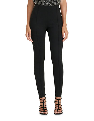 Lauren Ralph Lauren Seamed Ponte Leggings-BLACK-X-Small 88861759_BLACK_X-Small