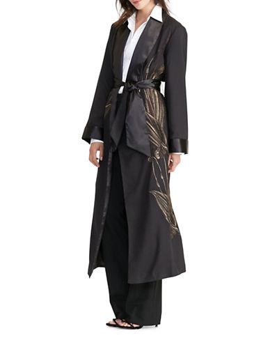 Lauren Ralph Lauren Jacquard Wrap Jacket-BLACK-X-Large 88861836_BLACK_X-Large