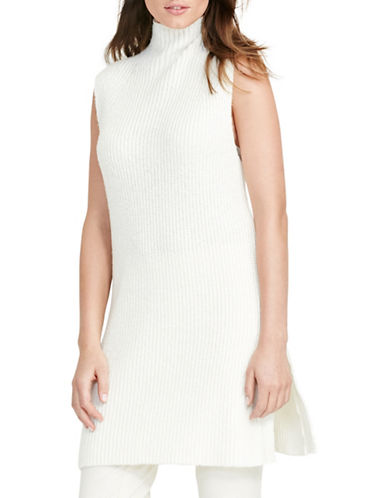 Lauren Ralph Lauren Ribbed Sleeveless Sweater-WHITE-Large 88819415_WHITE_Large