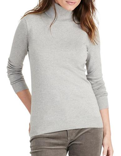 Lauren Ralph Lauren Stretch Silk Turtleneck-GREY-Medium 88819436_GREY_Medium