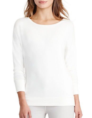 Lauren Ralph Lauren Relaxed Jersey Top-WHITE-Small 88861879_WHITE_Small