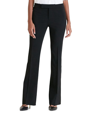 Lauren Ralph Lauren Stretch Wool Tuxedo Pants-BLACK-12 88861905_BLACK_12