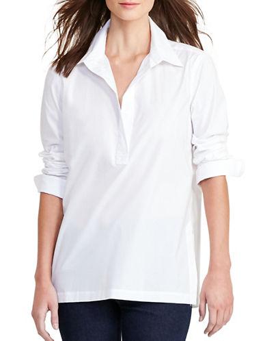 Lauren Ralph Lauren Stretch-Cotton Shirt-WHITE-Medium