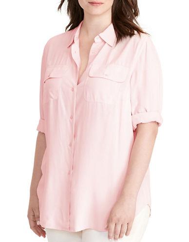 Lauren Ralph Lauren Plus Jersey Workshirt-PINK-2X 88796052_PINK_2X