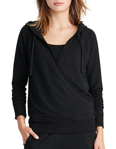 Lauren Ralph Lauren Surplice Hoodie-BLACK-Medium 88830758_BLACK_Medium