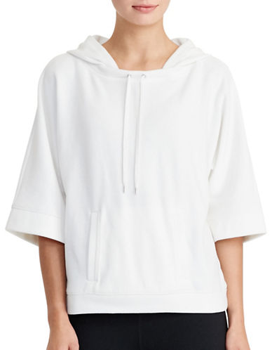 Lauren Ralph Lauren Cotton-Blend Hoodie-WHITE-Medium 88830775_WHITE_Medium