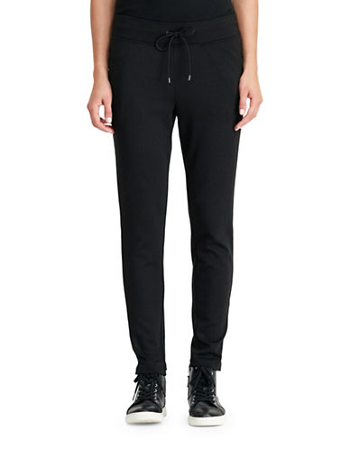 Lauren Ralph Lauren Jersey Zip-Pocket Pants-BLACK-Large 88830797_BLACK_Large