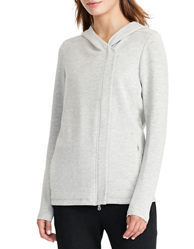 Lauren Ralph Lauren Hooded Knit Jacket-GREY-X-Small 88830845_GREY_X-Small