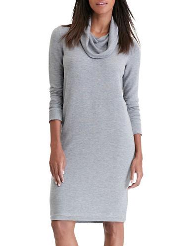 Lauren Ralph Lauren Cowl Neck Dress-GREY-Medium 88830847_GREY_Medium