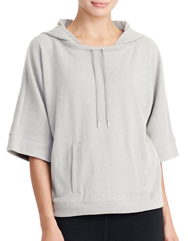 Lauren Ralph Lauren Cotton-Blend Hoodie-GREY-Small 88830857_GREY_Small