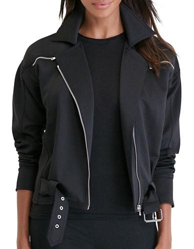 Lauren Ralph Lauren Neoprene Moto Jacket-BLACK-X-Large 88830862_BLACK_X-Large