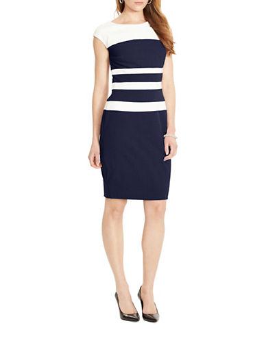 Lauren Ralph Lauren Colourblock Gabardine Dress-MULTI-4