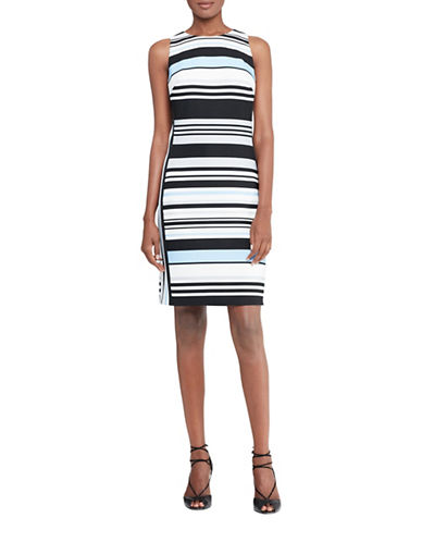Lauren Ralph Lauren Striped Crepe Sheath Dress-BLUE-14