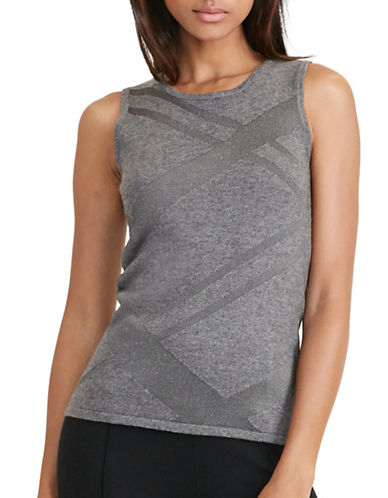 Lauren Ralph Lauren Eldotia Sleeveless Sweater-GREY-Medium 88819733_GREY_Medium