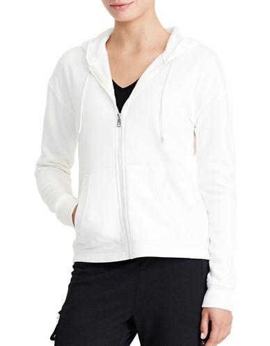 Lauren Ralph Lauren Colour-Blocked Velour Hoodie-WHITE-Small 88830790_WHITE_Small