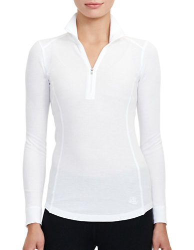 Lauren Ralph Lauren Waffle-Knit Mock Neck Pullover-WHITE-Medium 88830822_WHITE_Medium