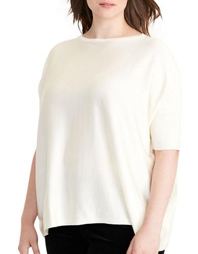 Lauren Ralph Lauren Plus Short-Sleeve Sweater-WHITE-2X 88796142_WHITE_2X