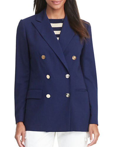 Lauren Ralph Lauren Double-Breasted Wool Blazer-BLUE-10 88876305_BLUE_10