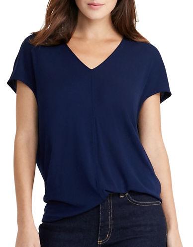 Lauren Ralph Lauren Dolman-Sleeve Jersey Top-NAVY-Large 88876385_NAVY_Large