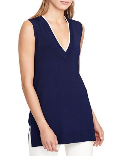 Lauren Ralph Lauren Harvyo Sleeveless Sweater-BLUE-Medium 88876458_BLUE_Medium