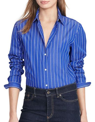 Lauren Ralph Lauren Jadra Striped Cotton Shirt-BLUE-Small 88875625_BLUE_Small