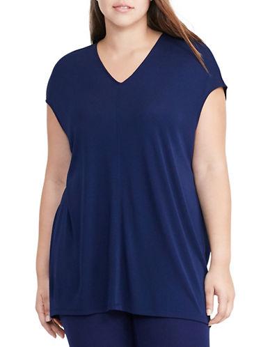 Lauren Ralph Lauren Plus Dolman-Sleeve Jersey Top-BLUE-1X 88837556_BLUE_1X
