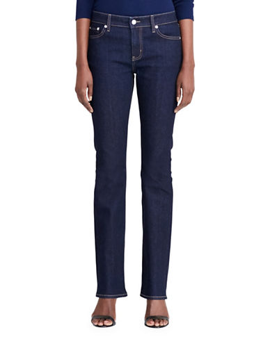 Lauren Ralph Lauren Plus Slim Bootcut Jeans-BLUE-14W 88837596_BLUE_14W