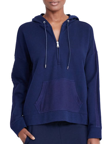 Lauren Ralph Lauren Sharlima French Terry Hoodie-BLUE-X-Large 88874452_BLUE_X-Large