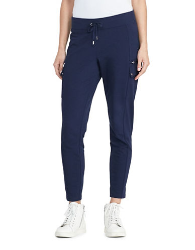 Lauren Ralph Lauren Fidelia French Terry Cargo Pants-BLUE-X-Small 88874475_BLUE_X-Small