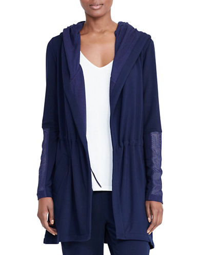 Lauren Ralph Lauren Kaeleigh Hooded Open-Front Jacket-BLUE-Medium 88874495_BLUE_Medium
