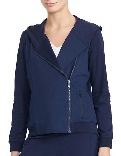 Lauren Ralph Lauren Idalis Shawl-Collar Hoodie-BLUE-Small 88874501_BLUE_Small