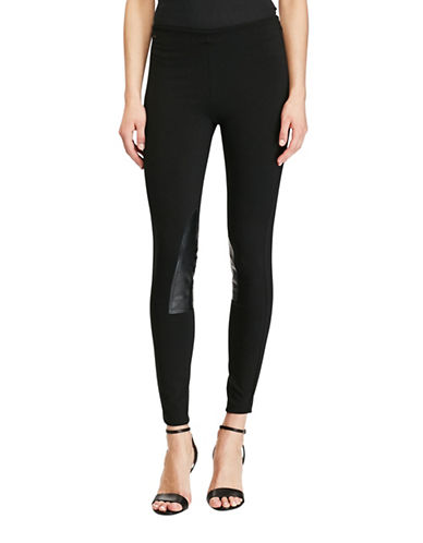 Polo Ralph Lauren Leather-Patch Jodhpur Legging-POLO BLACK-X-Small