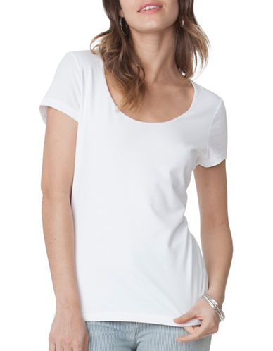 Chaps Jersey Scoop Neck Tee-WHITE-X-Large 89052197_WHITE_X-Large