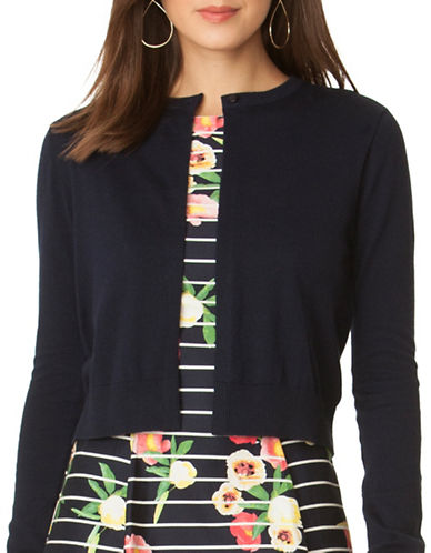 Chaps Cropped Cotton Sweater-NAVY-X-Large 89052222_NAVY_X-Large