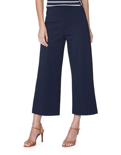 Chaps Wide-Leg Capri Pants-BLUE-Medium 89052280_BLUE_Medium