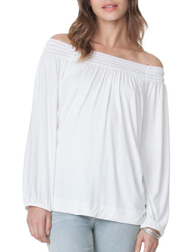 Chaps Lace-Trim Peasant Top-WHITE-Small 89052343_WHITE_Small