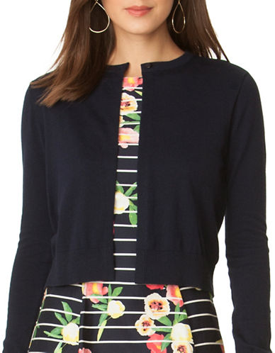 Chaps Petite Cropped Cotton Sweater-NAVY-Petite X-Small 89053086_NAVY_Petite X-Small