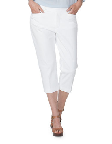 Chaps Plus Stretch-Twill Capri Pants-WHITE-16W 89091441_WHITE_16W