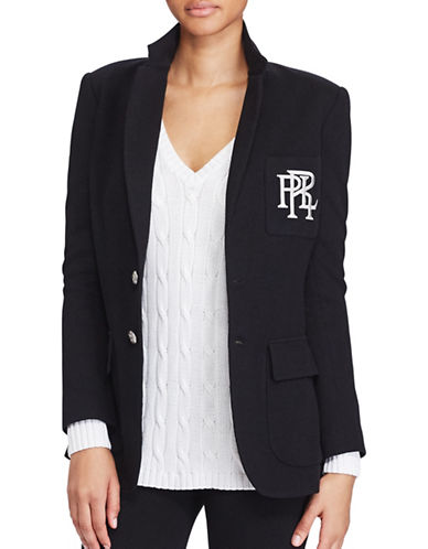Polo Ralph Lauren Knit Cotton Blazer-POLO BLACK-2
