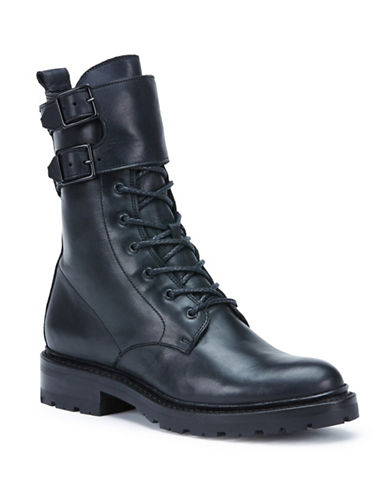 Frye Julie Shield Leather Combat Boots-BLACK-8.5