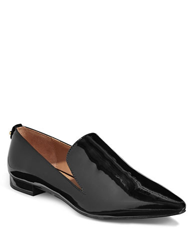 Calvin Klein Elin Patent Toe Loafers-BLACK-7