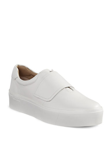 Calvin Klein Grip-Tape Slip-On Shoes-WHITE-38.5