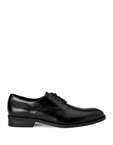 Calvin Klein Dorrel Box Leather Oxfords-BLACK-8