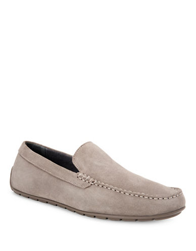 Calvin Klein Isaac Oily Leather Loafers-TOFFEE-13