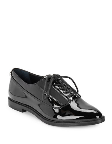 Calvin Klein Della Patent Leather Oxfords-BLACK PATENT-8