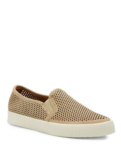 Frye Camille Perforated Slip-Ons-TAUPE-5.5
