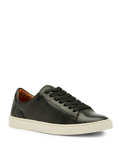 Frye Ivy Low Lace Up Sneakers-BLACK-10
